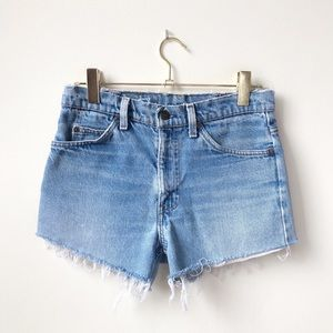 Levi's • Vintage Distressed High Waisted Shorts
